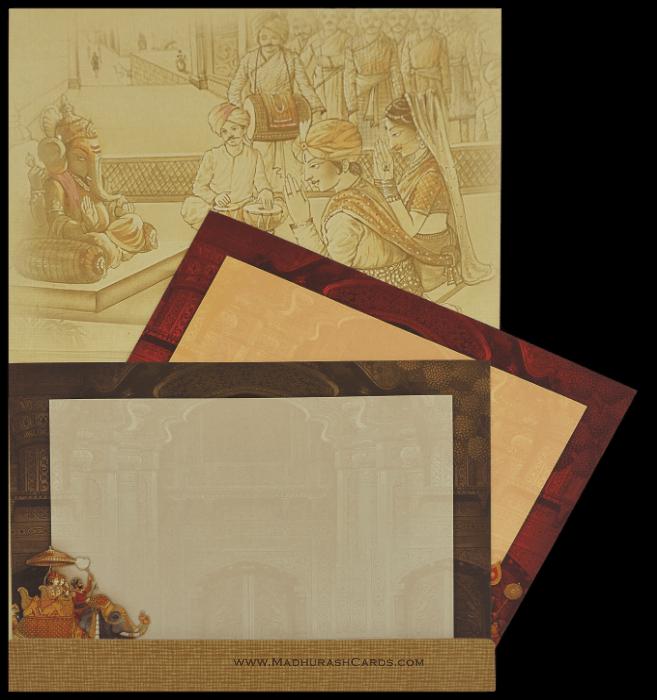 Hindu Wedding Invitations - HWC-15047 - 4