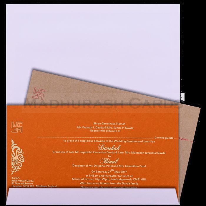 Hard Bound Wedding Cards - HBC-15094 - 4