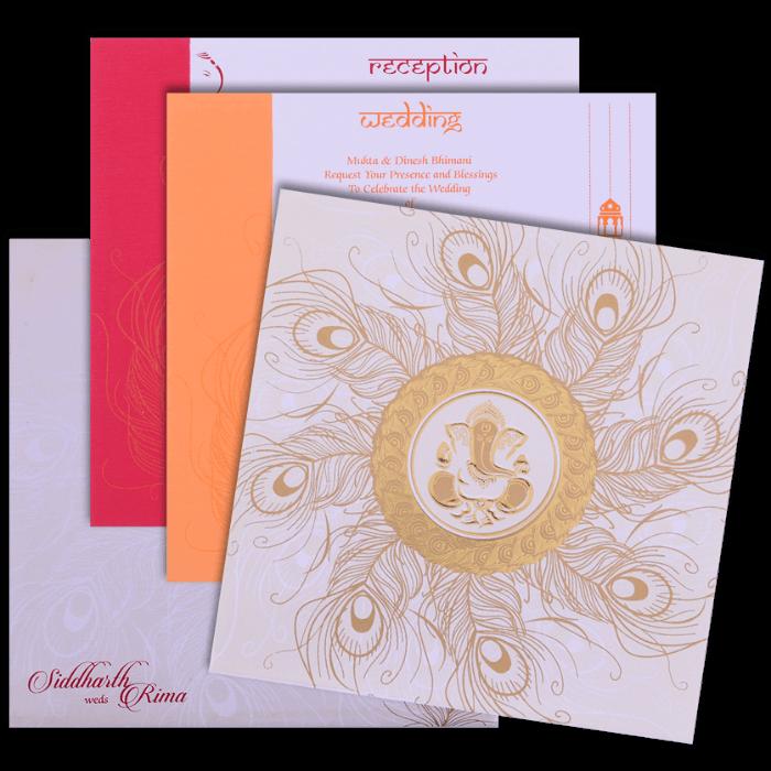 Hindu Wedding Cards - HWC-15268 - 5