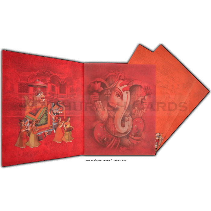 Hard Bound Wedding Cards - HBC-15009 - 4