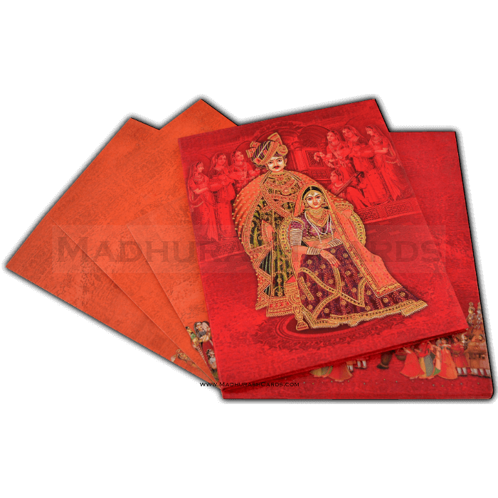 Hard Bound Wedding Cards - HBC-15009 - 5