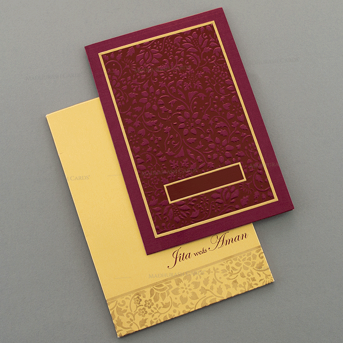 Hindu Wedding Cards - HWC-15075