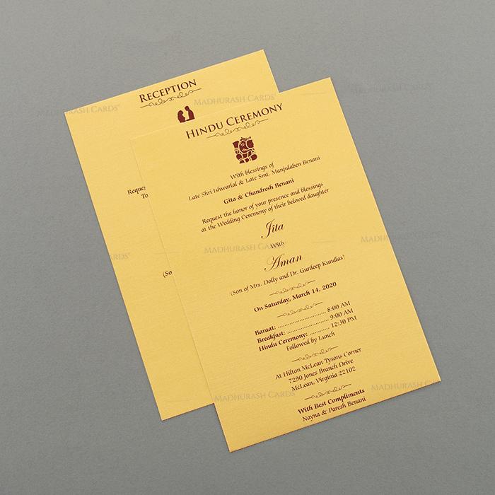 Hindu Wedding Cards - HWC-15075 - 4