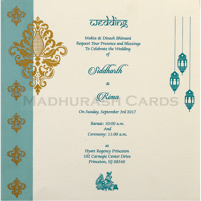Muslim Wedding Cards - MWC-15152 - 5