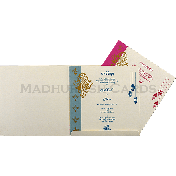 Hindu Wedding Cards - HWC-15152 - 4