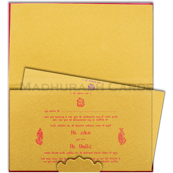 Hard Bound Wedding Cards - HBC-15091 - 5