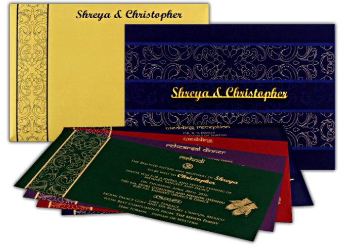 Custom Wedding Cards - CZC-9110 - 4