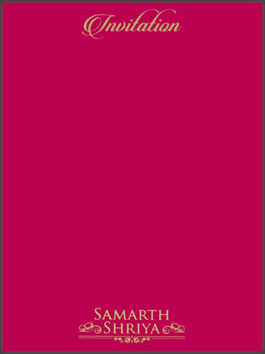 Customized Wedding Invitations - CZC-8801DP - 3