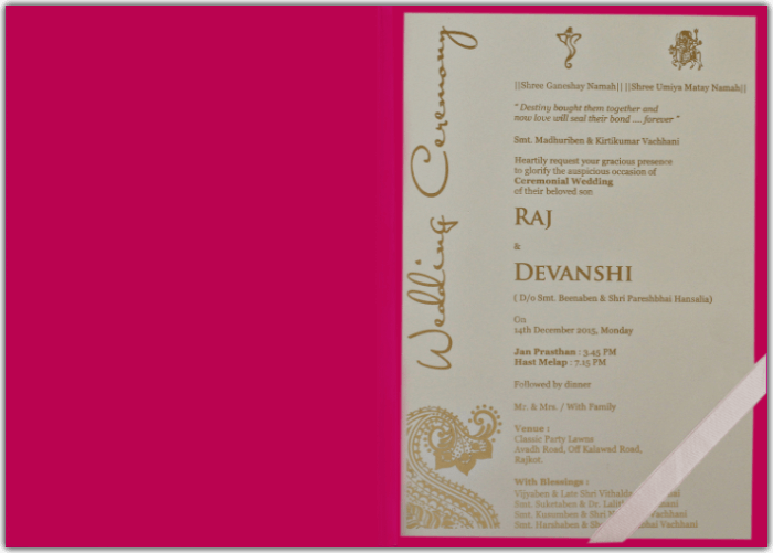 Customized Wedding Invitations - CZC-8801DP - 4