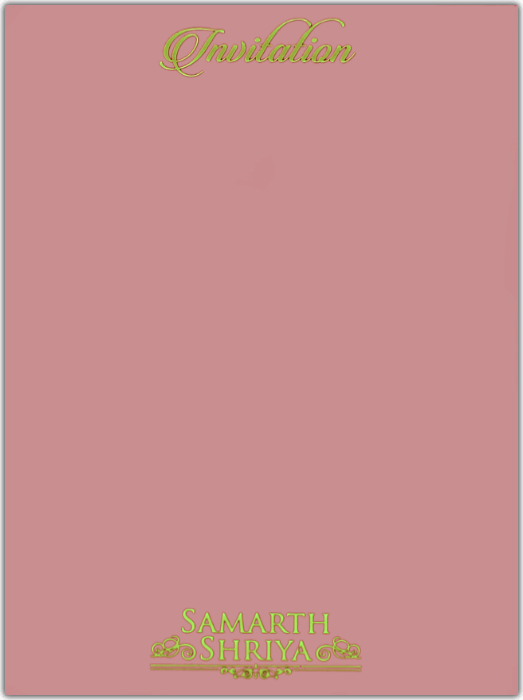 Customized Wedding Invitations - CZC-8801LP - 3