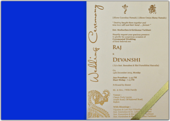 Customized Wedding Invitations - CZC-8801B - 4