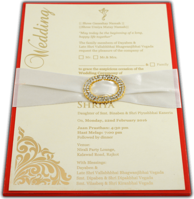 Custom Wedding Cards - CZC-9706R - 2