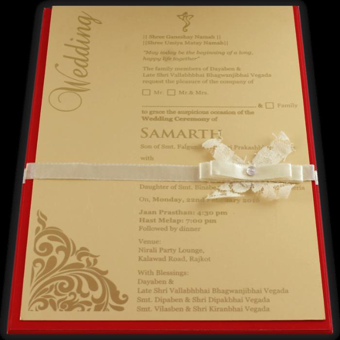 test Custom Wedding Cards - CZC-9732R