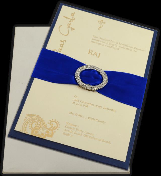 Custom Wedding Cards - CZC-9709B - 4