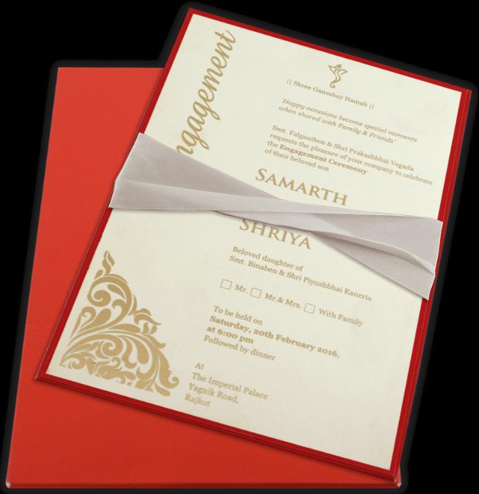Custom Wedding Cards - CZC-9741R - 4