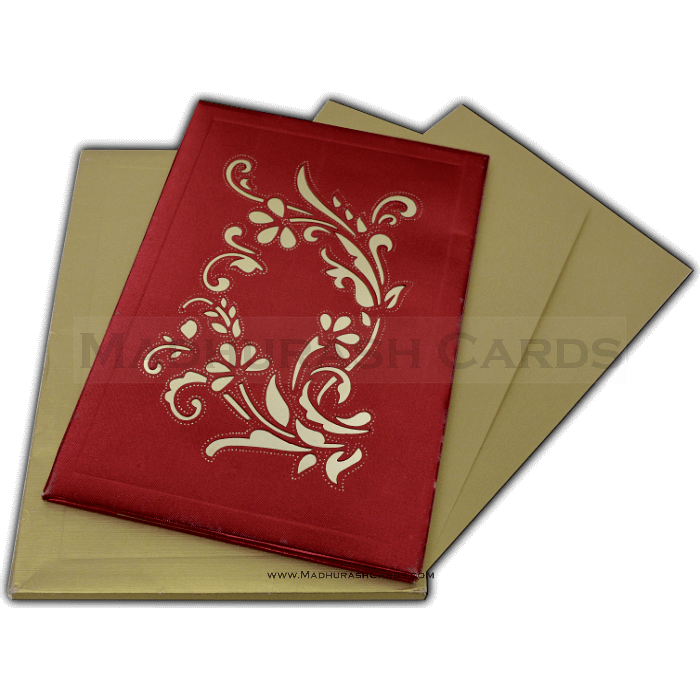 test Hard Bound Wedding Cards - HBC-15018