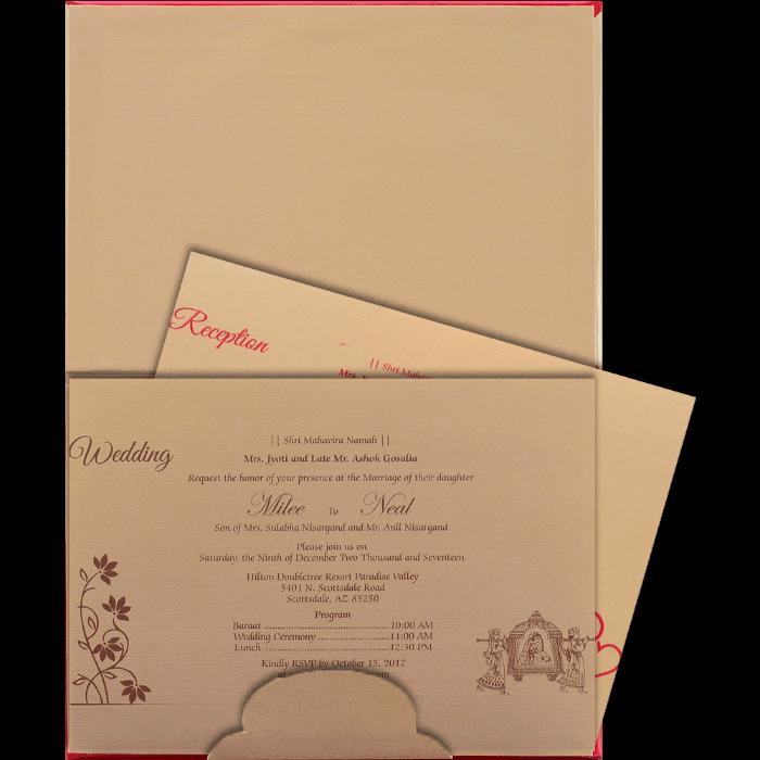 Hard Bound Wedding Cards - HBC-15022 - 3