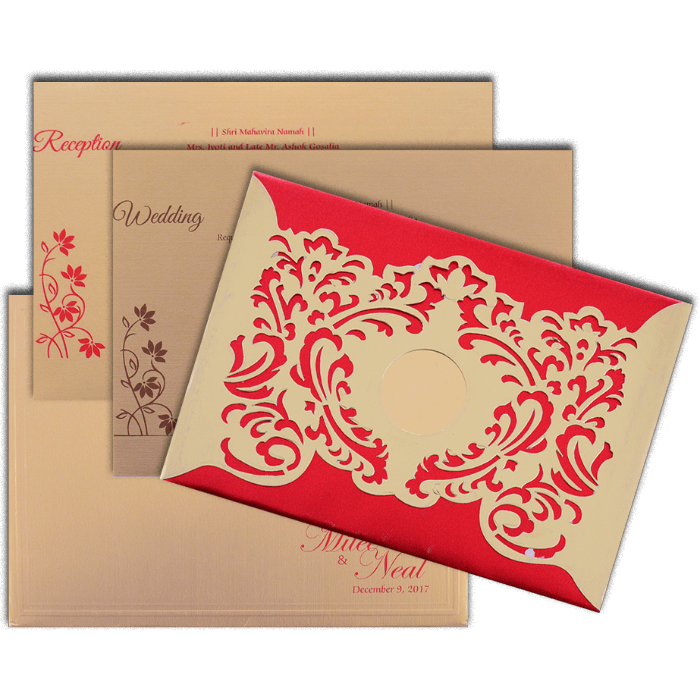 Hard Bound Wedding Cards - HBC-15022 - 5