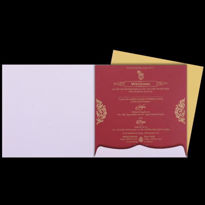 Hindu Wedding Cards - HWC-15270 - 3