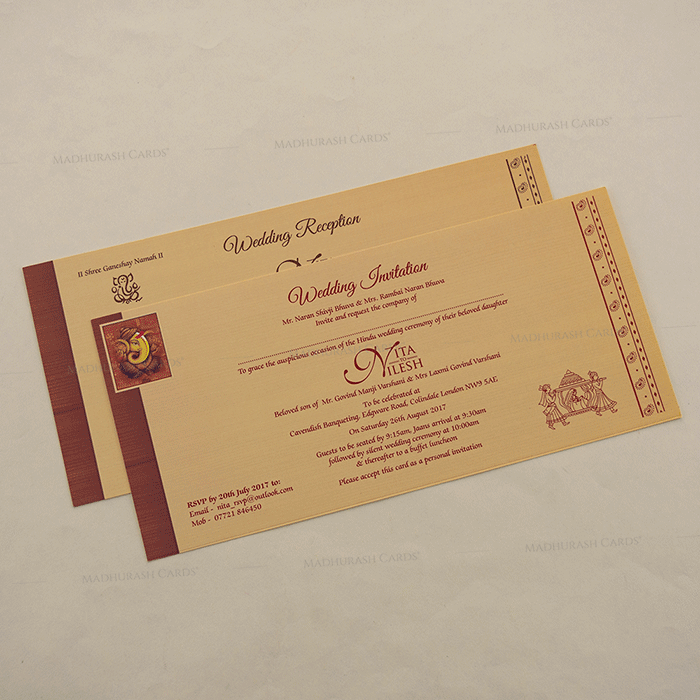 Hindu Wedding Cards - HWC-15275 - 4