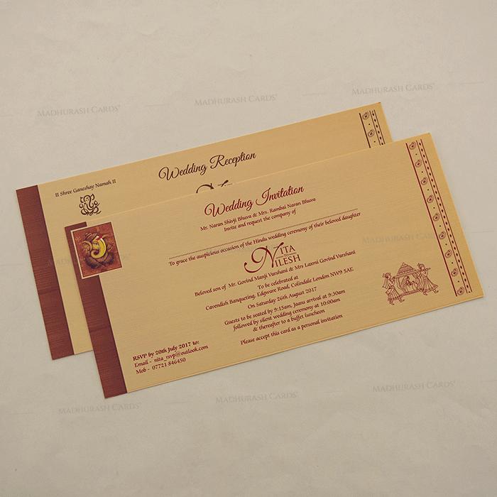 Hindu Wedding Cards - HWC-15275 - 4