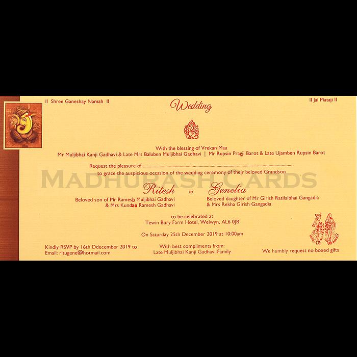 Hindu Wedding Cards - HWC-15275 - 5