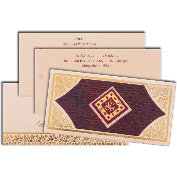 Hindu Wedding Cards - HWC-15396 - 5