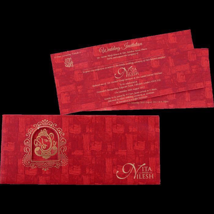 Hindu Wedding Cards - HWC-15410 - 5