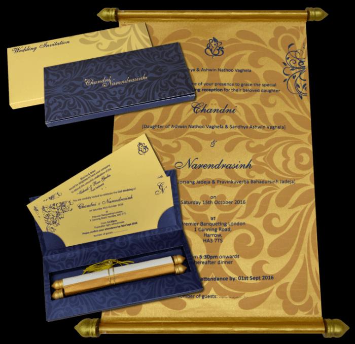 Boxed Scroll Cards - SC-5111BG