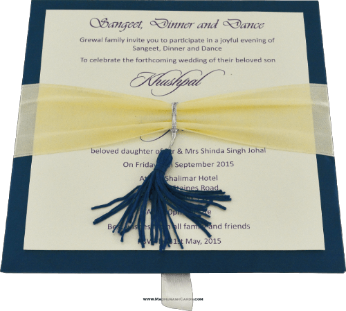 Luxury Wedding Cards - LWC-109B - 4