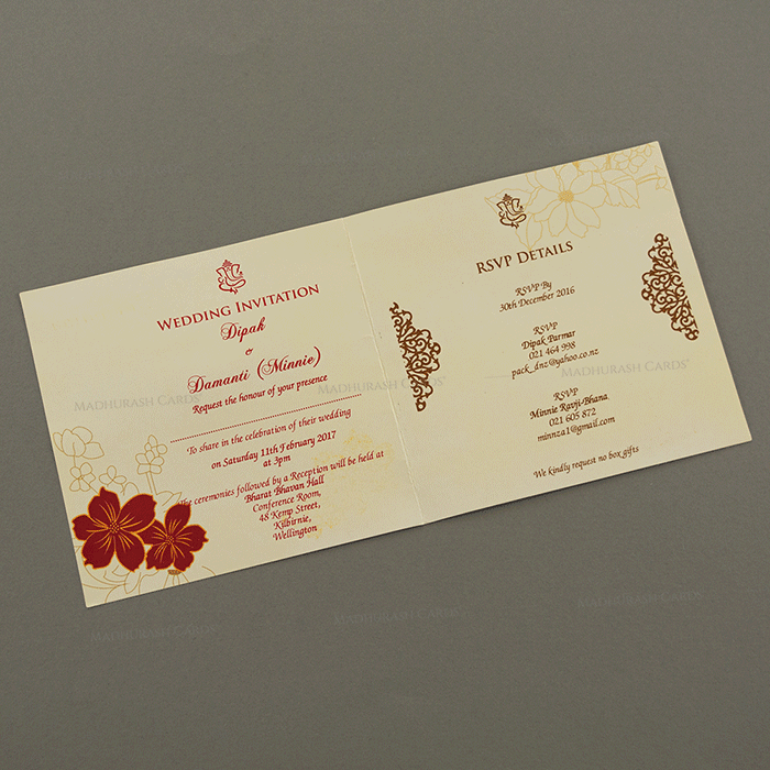 Hindu Wedding Cards - HWC-15096 - 4