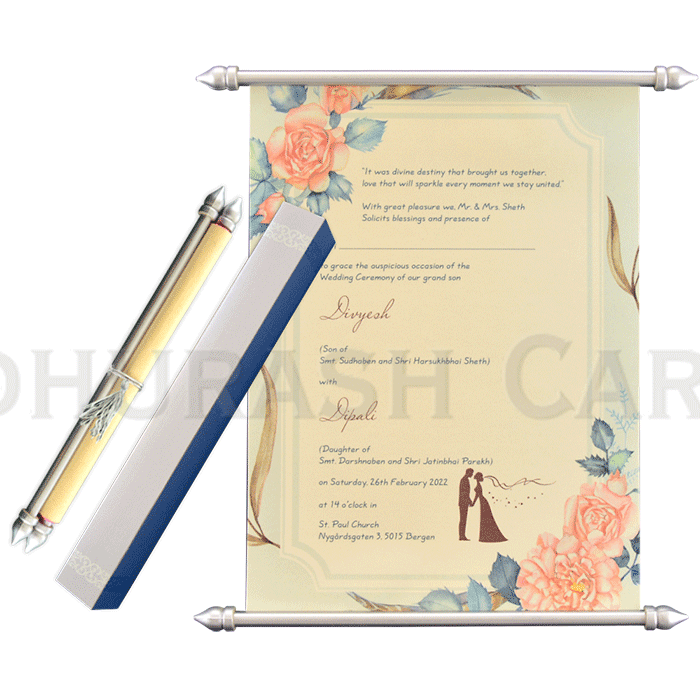 test Scroll Wedding Invitations - SC-6060