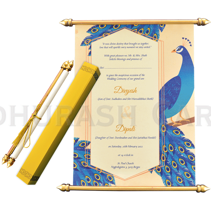 Scroll Wedding Invitations - SC-6061