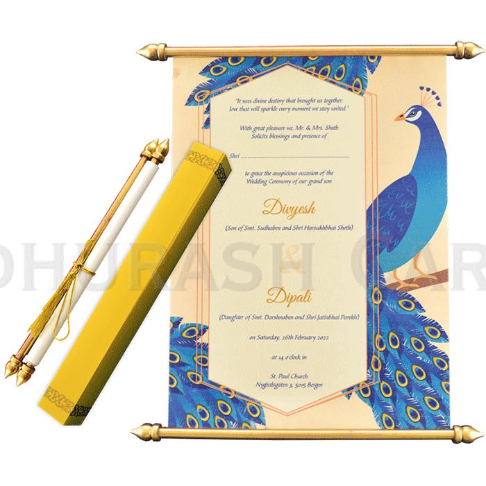 test Scroll Wedding Invitations - SC-6061