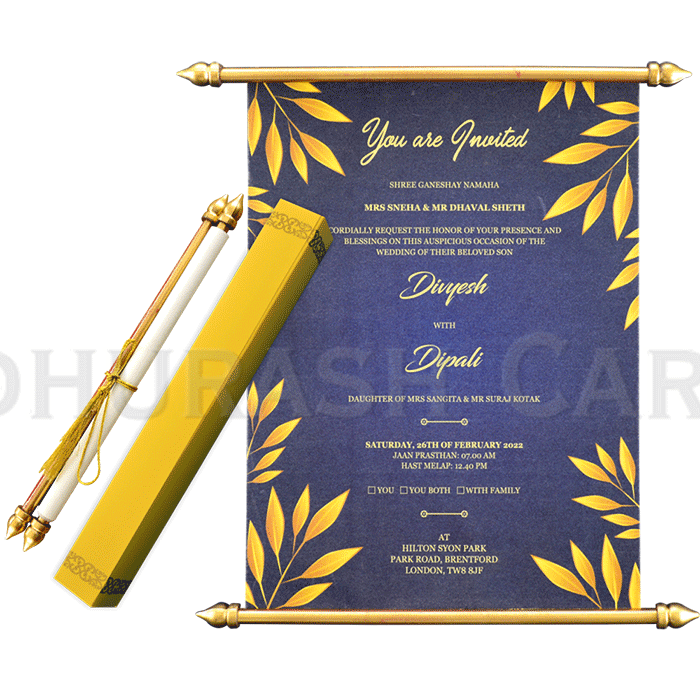 test Scroll Wedding Invitations - SC-6062