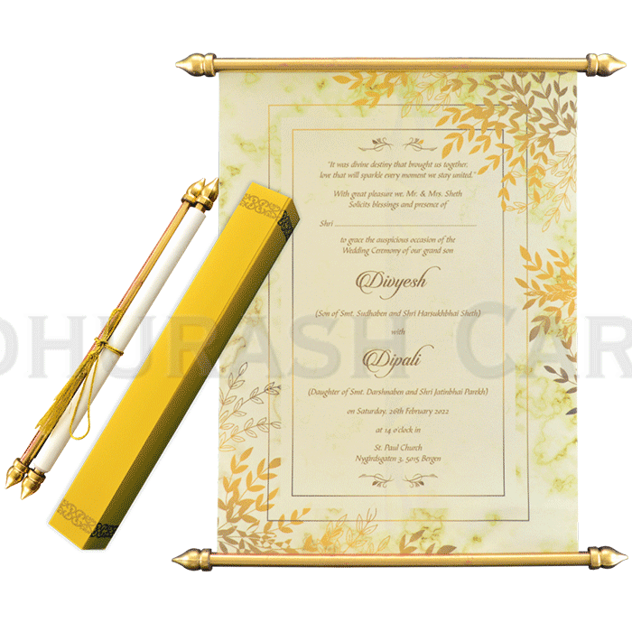 Scroll Wedding Invitations - SC-6063 - 2