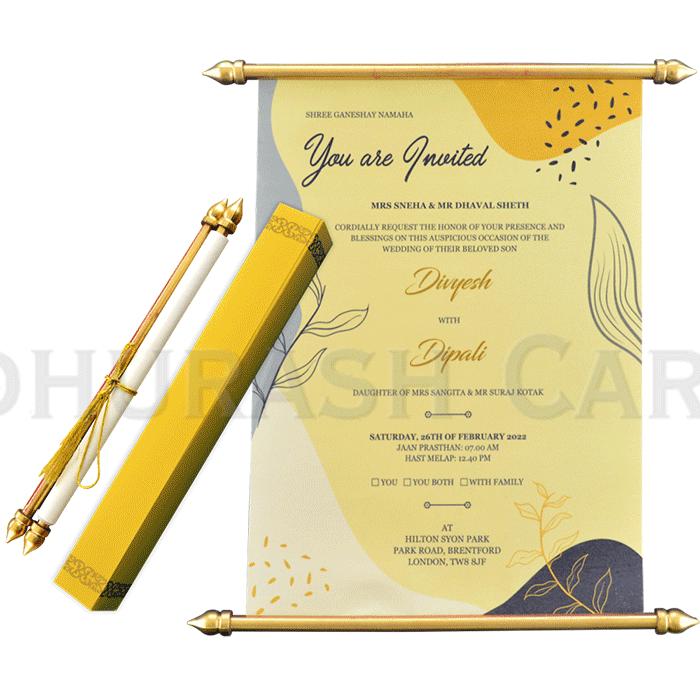 Scroll Wedding Invitations - SC-6064