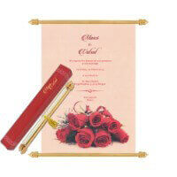 Scroll Wedding Invitations - SC-6065