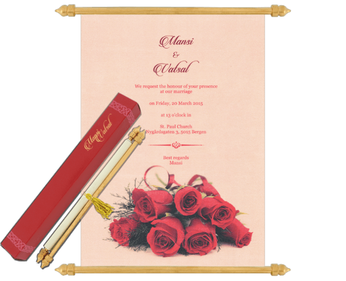 test Scroll Wedding Invitations - SC-6065