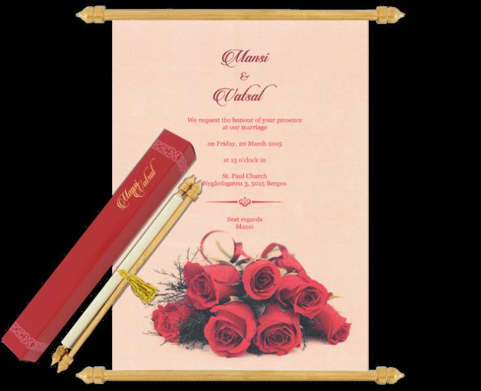 Scroll Wedding Invitations - SC-6065