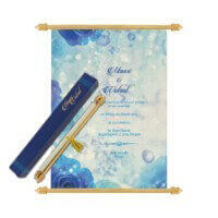 Scroll Wedding Invitations - SC-6066