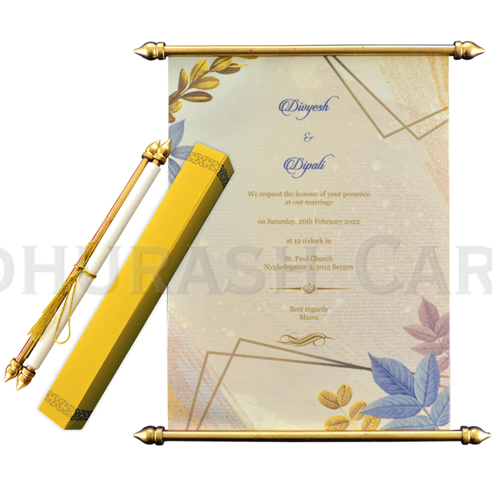 test Scroll Wedding Invitations - SC-6066