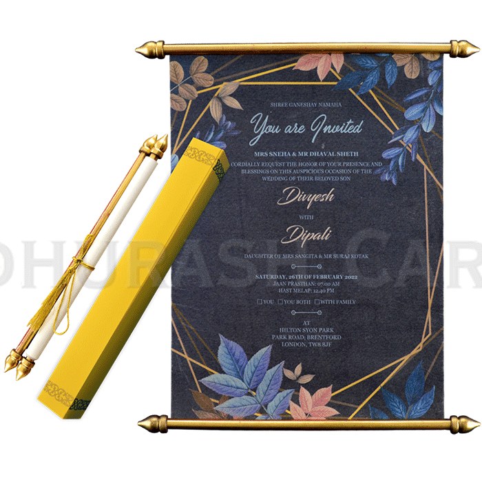 test Scroll Wedding Invitations - SC-6067