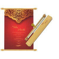 Scroll Wedding Invitations - SC-6070