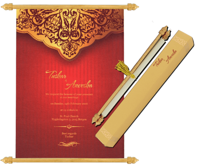 test Scroll Wedding Invitations - SC-6070