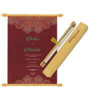 Scroll Wedding Invitations - SC-6072