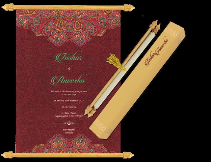 test Scroll Wedding Invitations - SC-6072