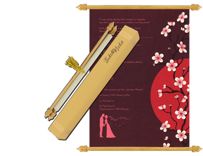 Scroll Wedding Invitations - SC-6073 - 2