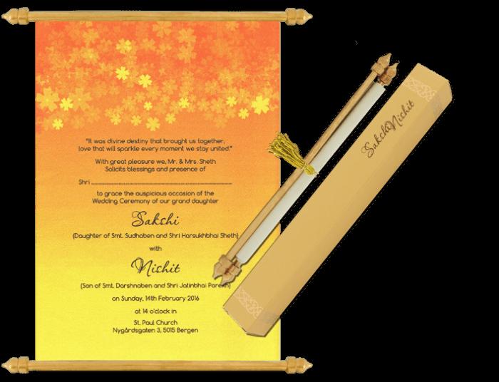 test Scroll Wedding Invitations - SC-6074