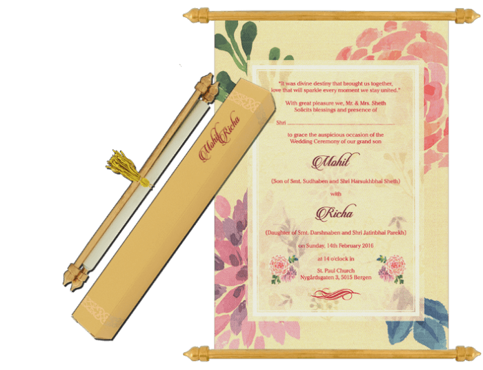 test Scroll Wedding Invitations - SC-6075